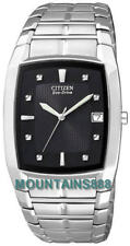 CITIZEN Eco-Drive Watch,LowChargeIndicator,StainlessSteel,WR,Date,Men,BM6550-58E