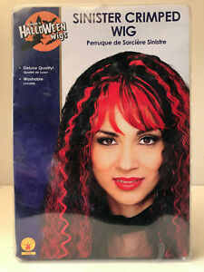 Sinister Crimped Witch Wig Halloween Fancy Dress Costume Party Accessory      P2