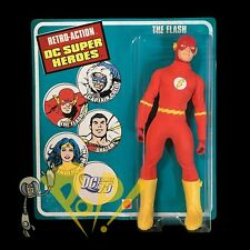 "DC Comics THE FLASH 8"" Retro Action Figure MATTEL Mego-Style NICE Sealed Card!"