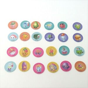 2017 Shopkins World Vacation Game Replacement Pieces - 24 Souvenir Tokens