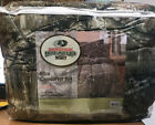 Mossy Oak Camo Beige 3-Piece Infinity Camouflage QUEEN Comforter Set Hunting NIP