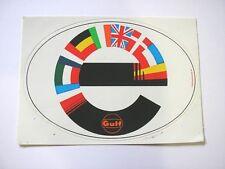 ADESIVO AUTO anni '80 originale / Old Sticker EUROPA GULF (cm 13 x 9)