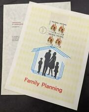 EDW1949SELL : USA 1972 Sc #1455. 2 Diff. Family Planning Souvenir pages Cat $300
