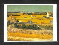 LUCKYPIGEON Vincent Van Gogh The Harvest Rice Field Netherlands Postcard (C1677)