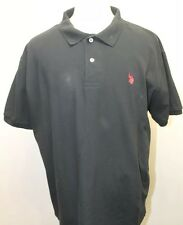 Black US Polo Association Men's T-Shirt XL 100% Cotton