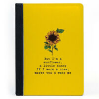 Quote Sunflower Yellow Wallet Tablet Leather Case Cover