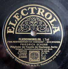 """Friedrich Schorr - Fliedermonolog - Electrola - /12"""" 78 RPM"""