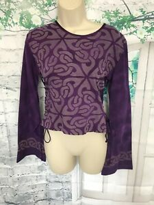 NOMADS CLOTHING PURPLE MIX TOP SIZE S