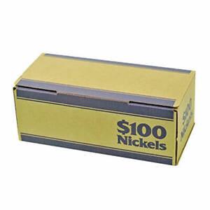 Nickel Blue Coin Roll Storage Box by MMF