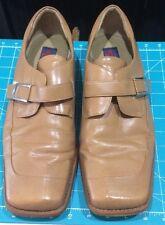 GIORGIO BRUTINI Tuxedo Square Toe Dress Shiny Light Brown Leather Size 13M