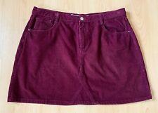 Primark Ladies Skirt 18 Burgundy Cord Casual A Line Everyday Plus