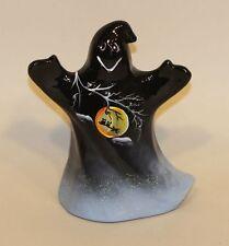 Fenton Art Glass Figurine Black Ghost 5278 69 Handpainted Halloween in Box