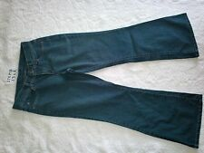 WOMENS FADED GLORY FLARE LEG JEANS SIZE 8P ITEM # 1362