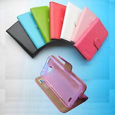 For ZTE Smartphone--Folder Flip Folio PU Leather Case cover Wallet stand design