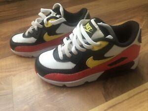 Nike Air Max 90 Leather PS 'Chrome Yellow Black Crimson' - Size 13C