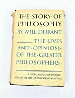 The Story Of Philosophy - Will Durant, Hardcover, 1952. Dust Jacket