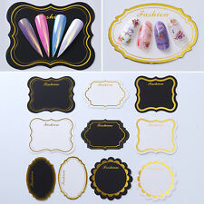 10X Nail Art Tips Display Board Hard Paper Showcase Cards Nails Stand Manicure