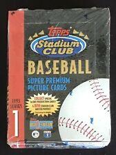 1993 Topps Stadium Club Series 1 Baseball Trading Cards Factory Sealed Wax Box