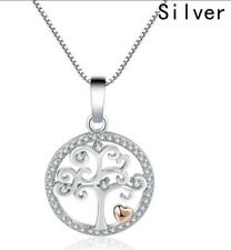 Silver Tree of Life Necklace with Crystals 18inch christmas birthday Wedding  48