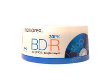 30-pk Memorex Blu-Ray Discs BD-R 6X 25GB; Single Layer Discs for HD Media!