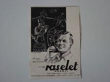advertising Pubblicità 1941 RASOIO RASELET DUCATI
