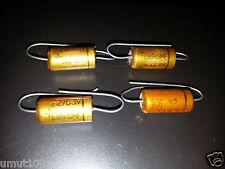 4pcs NOS ROE GOLD EBS 22UF 63V NAIM amp 9x18mm CAPACITORS for HI END Audio!