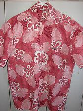 Te Mana Tahiti  Medium   Flower Pareau on Red/Mint