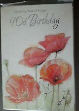 FEMALE 90TH BIRTHDAY CARD WITH WHITE ENVELOPE - U.K SELLER