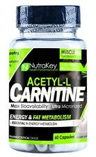 NutraKey ACETYL-L-CARNITINE | 60 Capsules | 500mg Carnitine Capsules
