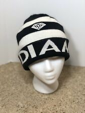 Diamond Supply Co Black White Stripe Cuff Cap Hat Beanie