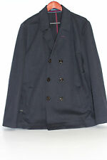 Ted Baker 'Bonde' Double Breasted Jersey Peacoat - Navy Blue - Size 6 / 2XL