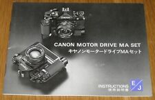 Canon Motor drive MA Manual in English & Japanese