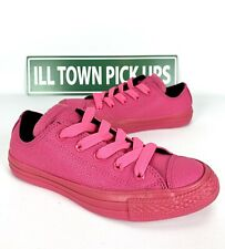 Converse All Star Chuck Taylor OX Size 8 Womens All Pink Neon Vivid Bright Low