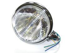 "Bottom mount headlight chrome 5 3/4"" Bates style Motorcycle chopper Bobber"