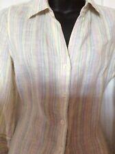 jaeger linen.shirt. size 10. Light shades of blues pinks yellows.