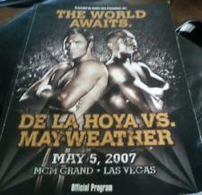 Oscar De La Hoya Floyd Mayweather On Site Boxing Program May 5 2007 DAMAGED