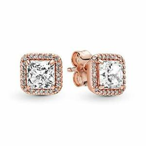 Pandora Jewelry Square Sparkle Halo Stud Cubic Zirconia Earring Pandora 280591CZ