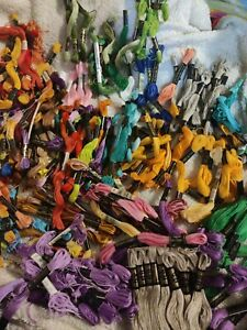Lot of 200+ skeins DMC Six Strand Clarks Embroidery Floss