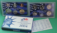 2004 Annual United States Mint 11 Coin Proof Set Coins Box COA Westward Journey
