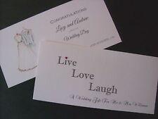 Personalised Handmade Wedding Day Money/Voucher/Gift Card Wallet - 2 DESIGNS