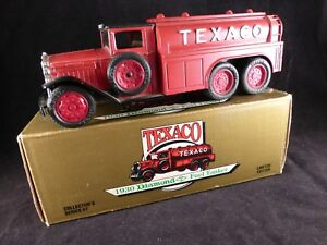 ERTL Texaco 1930 Diamond Red Fuel Tanker Limited Edition Truck Coin Bank Boxed