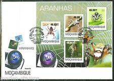 MOZAMBIQUE  2014  SPIDERS SHEET FIRST DAY COVER