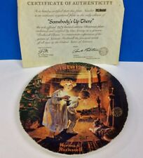 "Norman Rockwell 1979 Christmas ""Somebody's Up There"" Collector Plate"