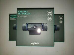 Logitech C920 Pro HD Webcam - Widescreen Video Calling 1080P (Brand New In Hand)