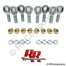 """7/8""""-14 Thread x 7/8"""" Bore, Chromoly 4-Link Heim Joint Rod Ends Kit w/ Cones"""