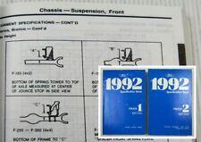 Ford 1992 Specification Book Trucks Aerostar Explorer Ranger Bronco F-Series