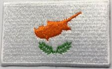 Cyprus Flag Small Iron On / Sew On Patch Badge 6 x 3.5cm RO Cyprus Cypriot