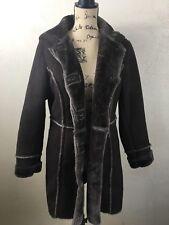 Coldwater Creek Chocolate Faux Fur Womens Jacket Size Medium