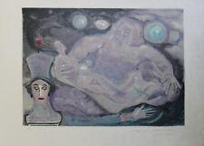 """""""MIME MARCEAU : LA CREATION DU MONDE"""" Litho originale entoilée Marcel MARCEAU"""
