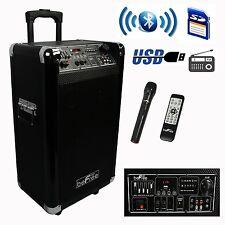 """NEW PORTABLE 600W WATT 10"""" BLUETOOTH DJ PARTY EVENT SPEAKER WIRELESS MIC FM USB"""